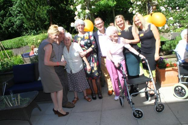 Residents and guests enjoyed a champagne afternoon tea as part of the National Care Home Open Day celebrations at Sunrise