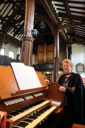 Christine Jones has retired from her role as church organist after an incredible 70 years