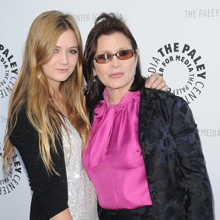 Billie Lourd will reportedly appear with her mother Carrie Fisher in the new Star Wars movie (Rex)