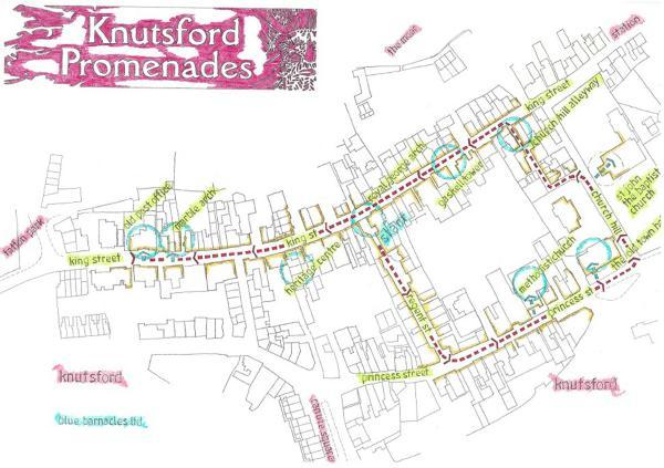 Knutsford Guardian: Map showing where the Promenades action will take place in the town.