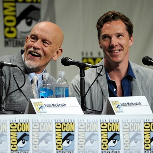 John Malkovich and Benedict Cumberbatch attend Comic-Con in San Diego