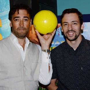 Alistair McGowan and Ralf Little attend the premiere of the film The Unbeatables