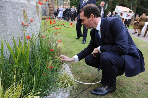 VIDEO: Tatton MP George Osborne lights 'Flame of Remembrance' to commemorate Cheshire East's fallen