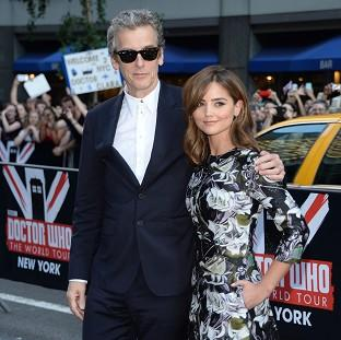 Peter Capaldi and Jenna Coleman attend BBC America's Doctor Who premiere in New York