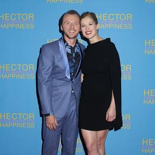 Simon Pegg and Rosamund Pike have worked together on two films back to back