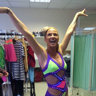 Sarah Harding is taking part in the BBC's gymnastics show Tumble