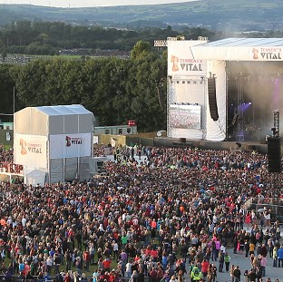 The crowd watching Bastille as seen from a Fe