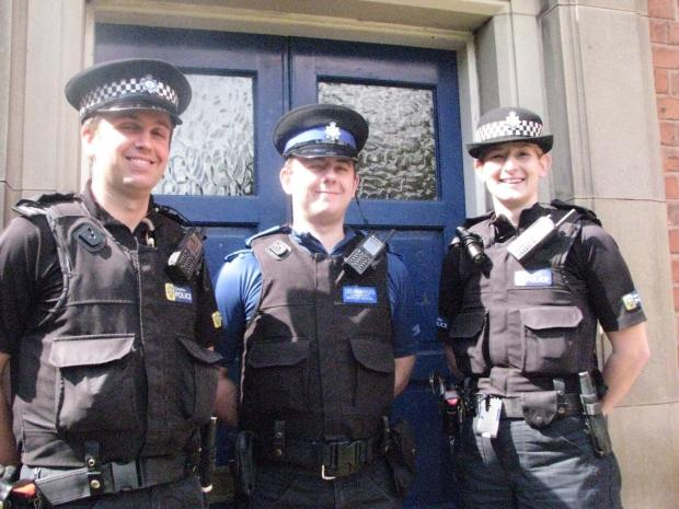 Sgt Paul Heatley, PCSO Christopher Munro and Sgt Alison Howarth are the new faces at Knutsford Police Station.