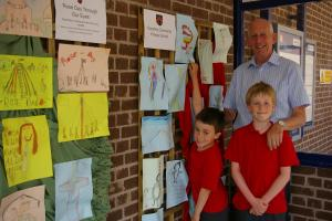Pupils brighten up village station with display