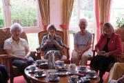 Fiona Bruce MP with residents of Lovell Court