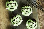 Frankenstein Cupcakes. Picture PA Photo/BBC Good Food/Will Heap