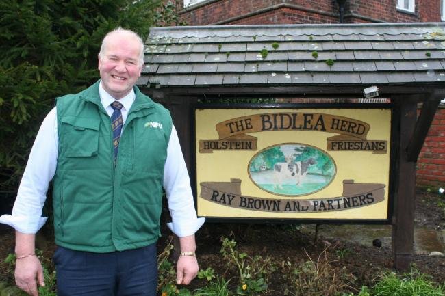 Ray Brown has been announced as Cheshire's new NFU County Chairman