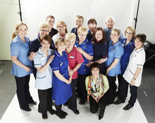 The team from East Cheshire Hospice on the photo shoot