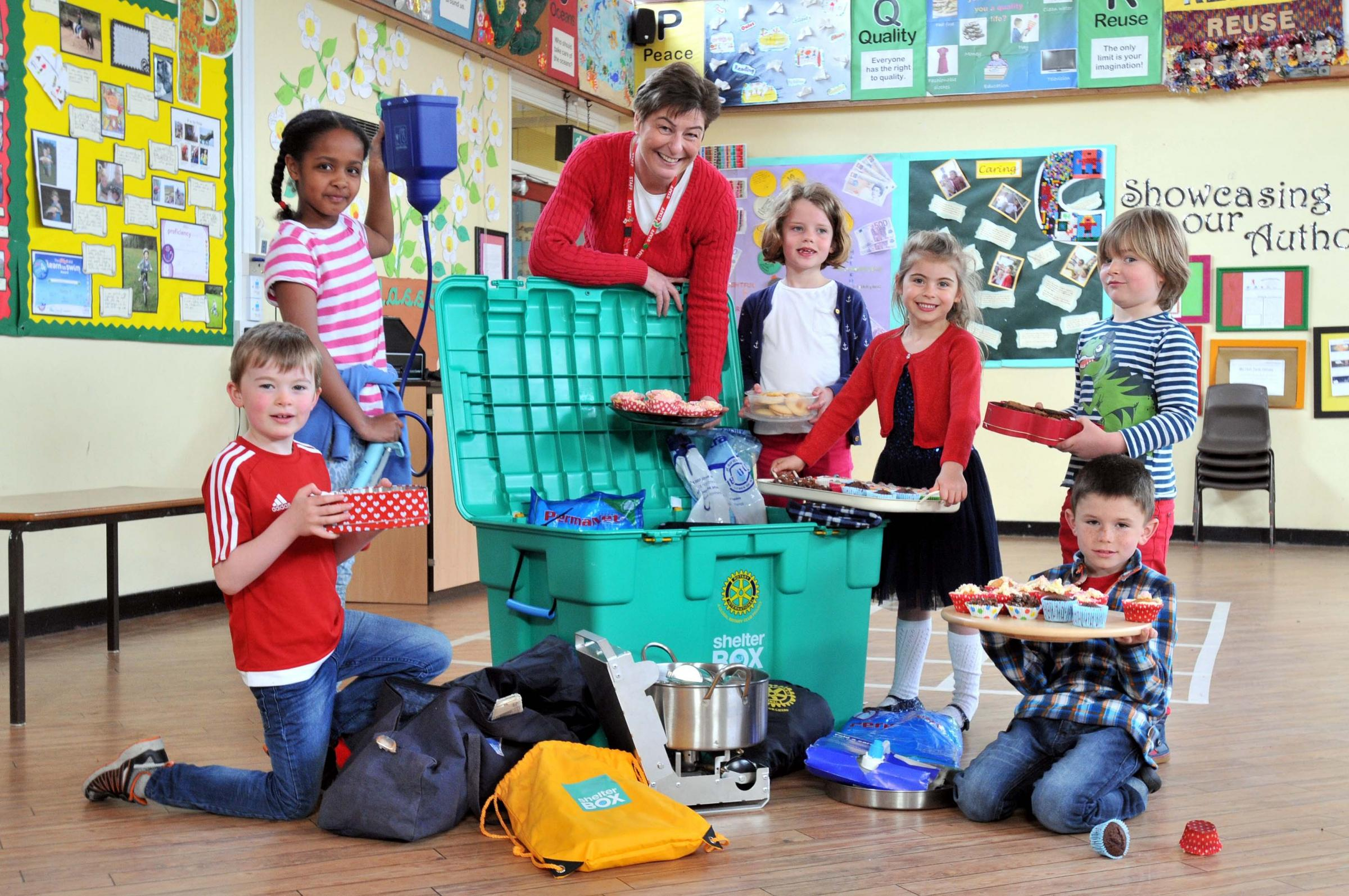 Egerton Primary School pupils held the cake sale to raise money for Nepal