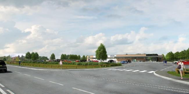 An artist's impression of the new store in Holmes Chapel