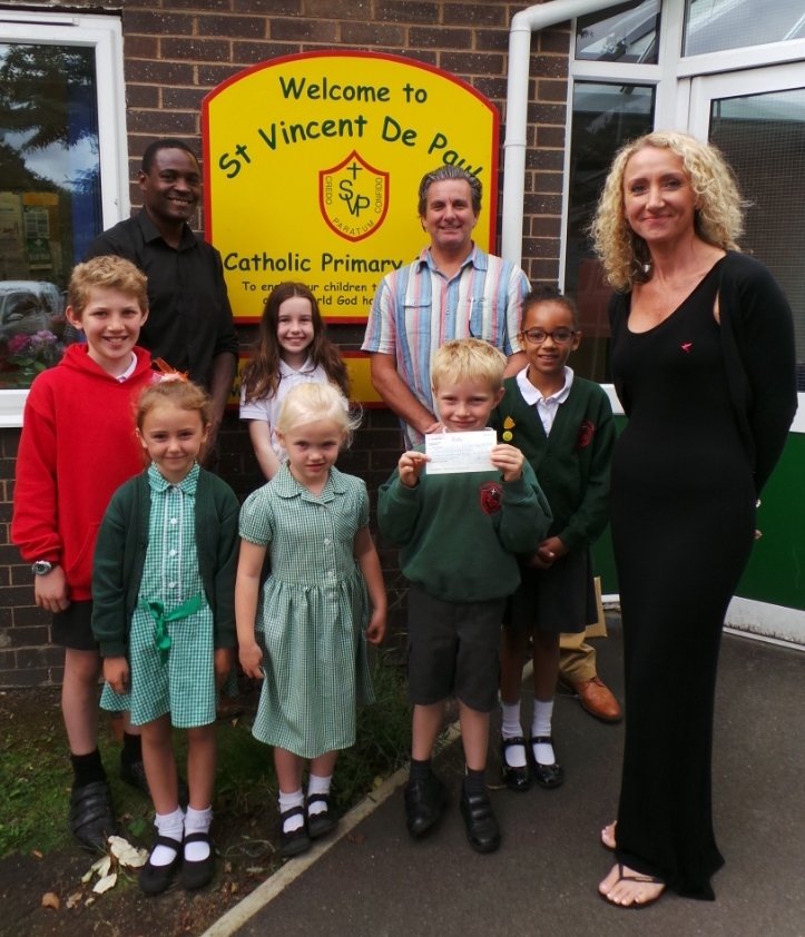 Children from St Vincent's Primary have been raising money for Kasupe, a Knutsford-based charity
