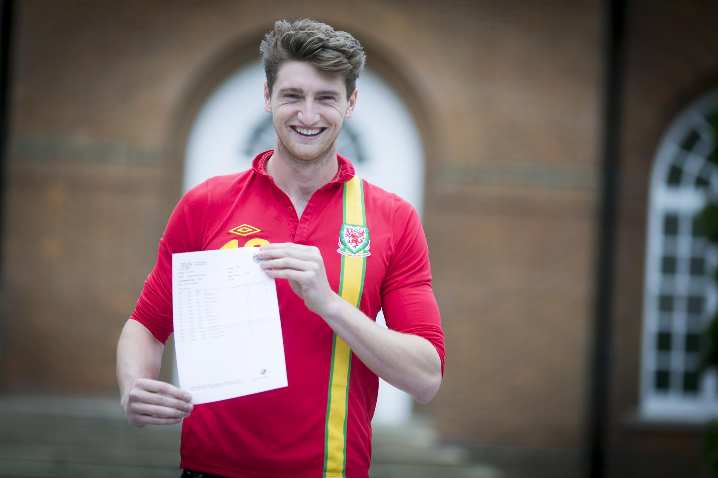 Will Abbots, who plays for Wales U19s and Bolton Wanderers, achieved three A*s in his exams