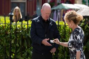 Who is sending Phil Mitchell secret messages in EastEnders?