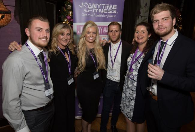 The Anytime Fitness group with director Sophie Hoyle (centre) and Joanne Norbury, gym