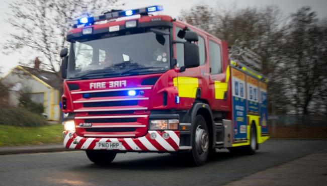 Wilmslow firefighters tackle car fire in Great Warford