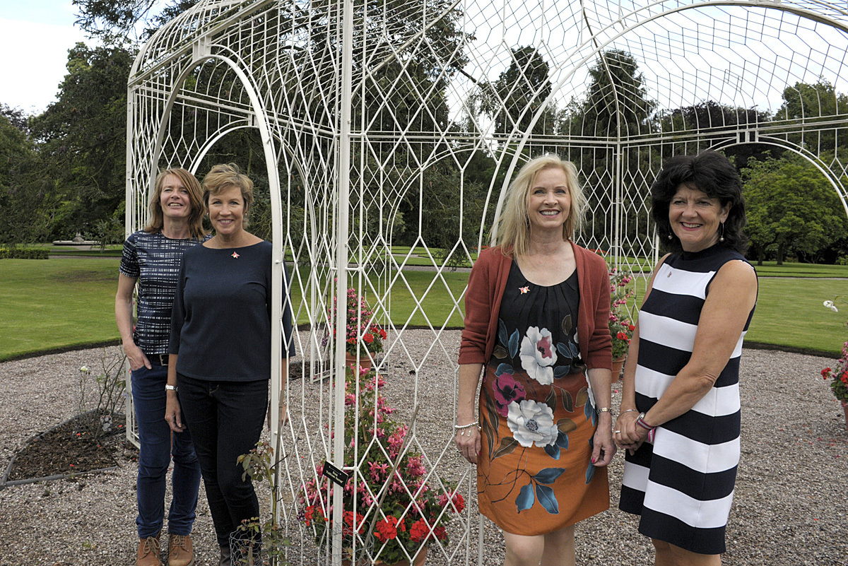 from left to right, Vicky Wilby, Tatton Park marketing manager with Knutsford Hosts Dee Griffiths, Sarah Flannery and Gaynor Evans.
