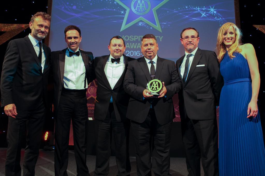 The Thwaites team picking up the AA award in London on Tuesday