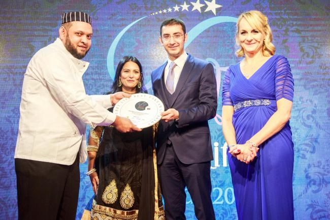 From left: Muhammad Foysal Ahmed, from Aroma, Priti Patel MP, Emrecan Inancer, from Turkish Airlines, and Louise Minchin, from BBC Breakfast