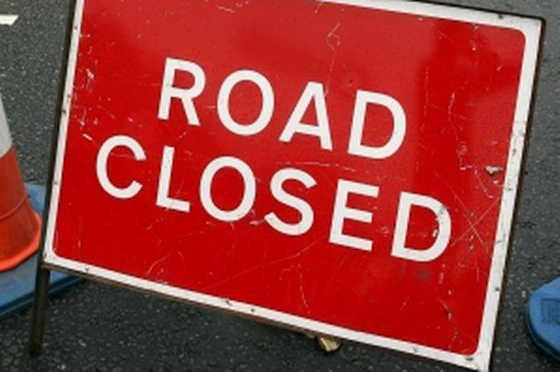 The road has been closed following the incident