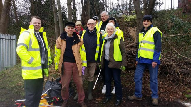 Volunteers from Alderley Edge