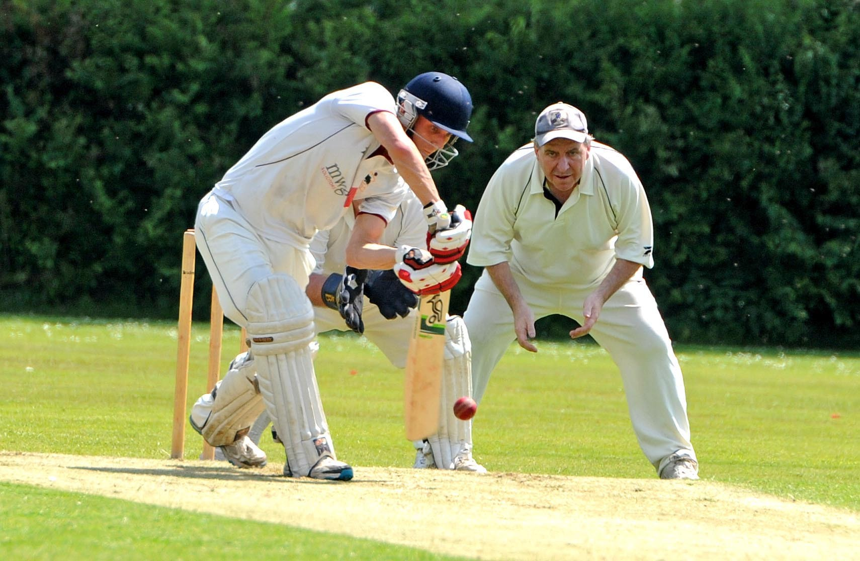 Darren Longden helped to stabilise Knutsford seconds' innings during their Cheshire League clash with Langley on Saturday