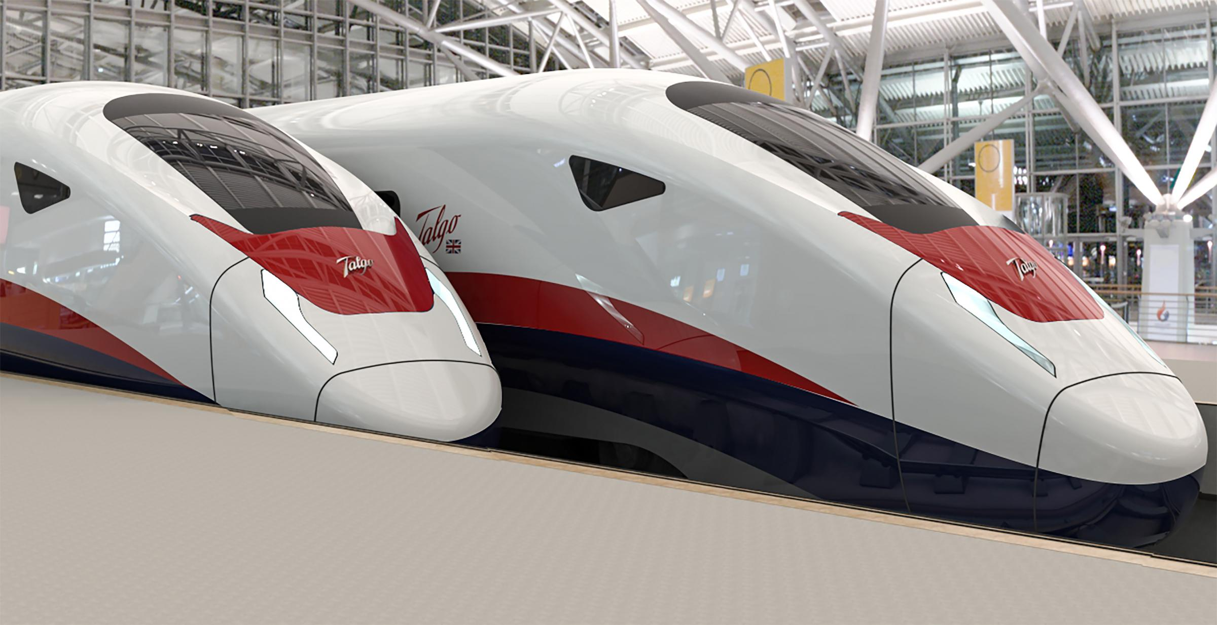 An artist's impression of Talgo's new AVRIL UK train, that could beseen on some of Britain's future High Speed Railway lines