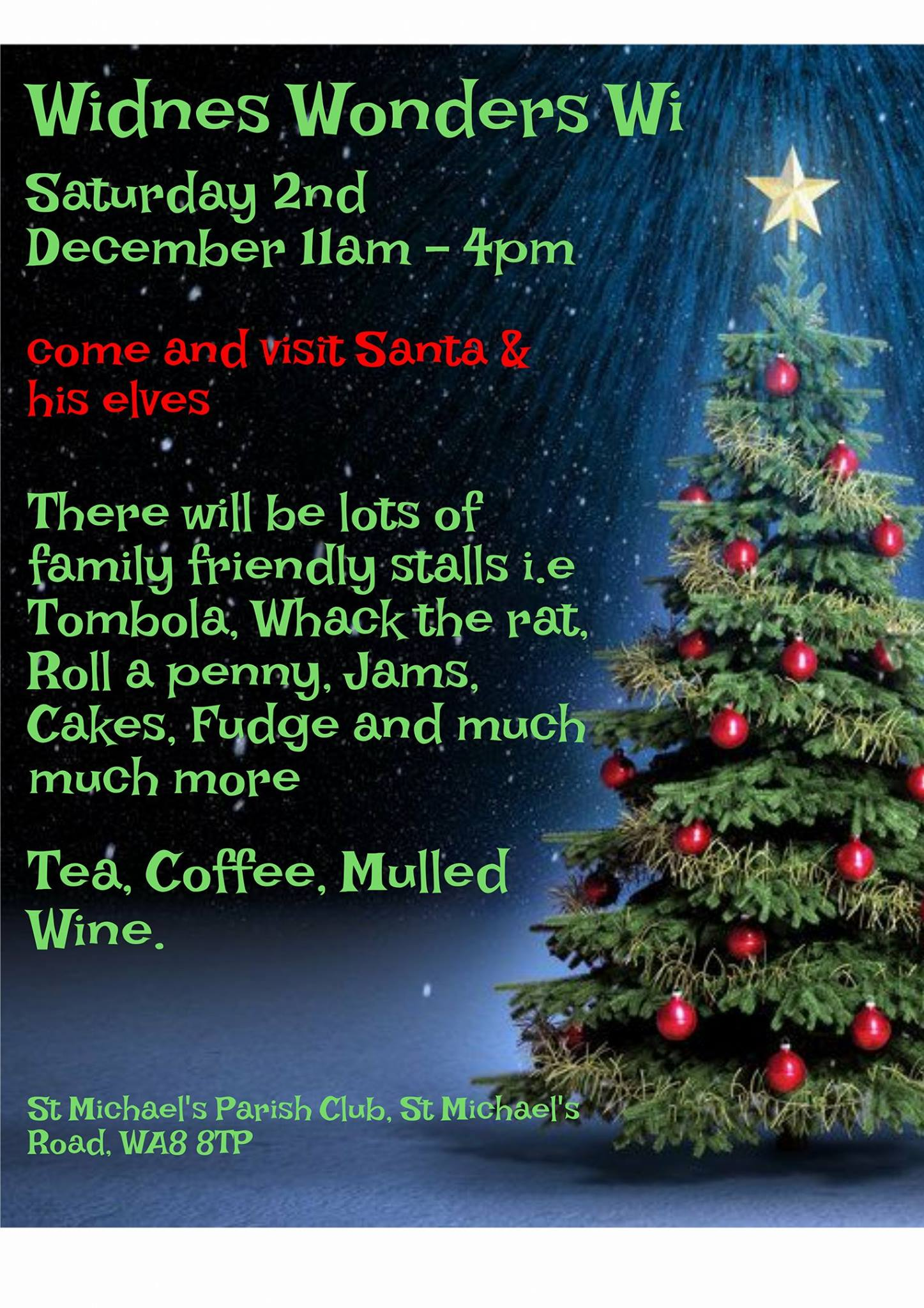 Widnes Wonders Womens Institute Christmas Fair