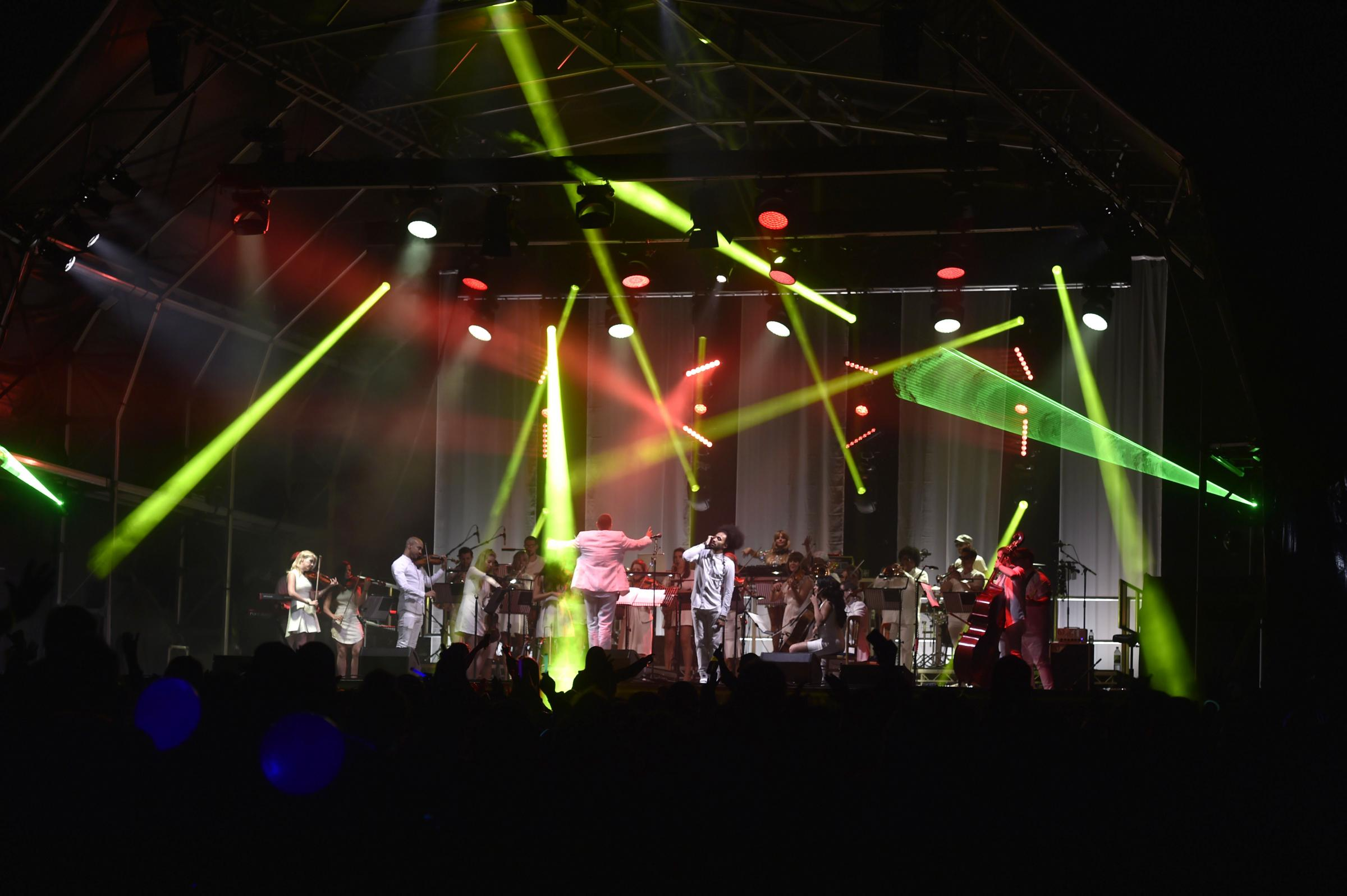 Urban Soul Orchestra performing at the Classic Ibiza event