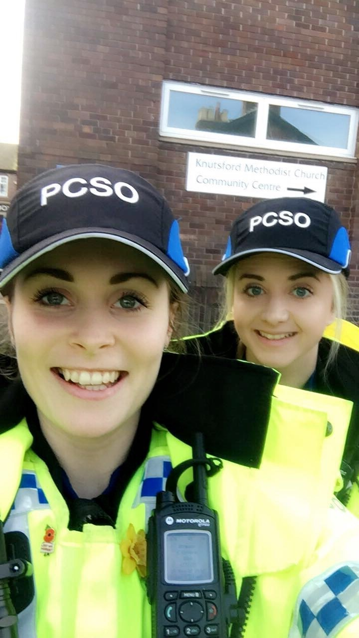 Knutsford PCSOs Zoe Cox and Courtney Nancollas