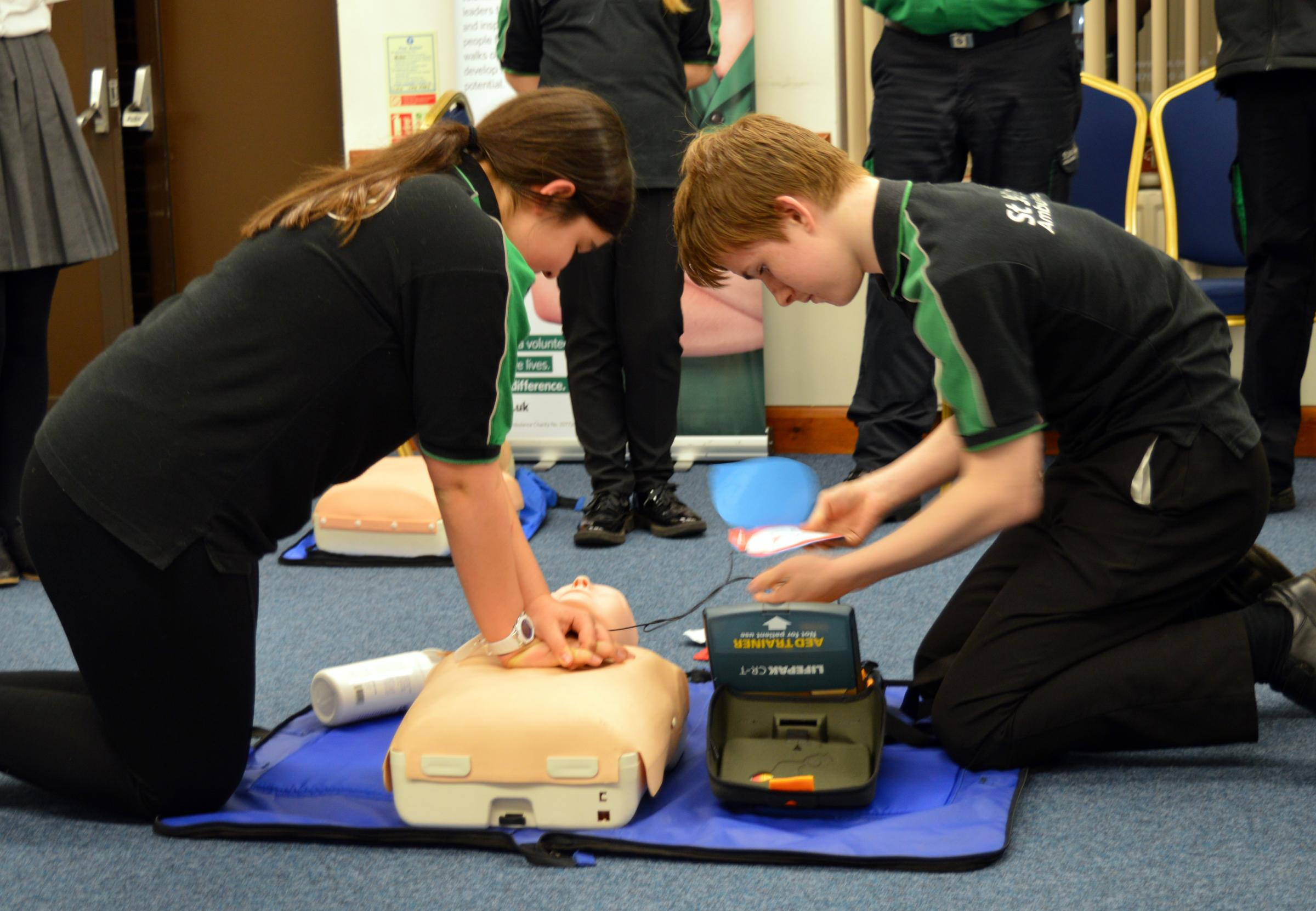 Learning to use a defibrillator