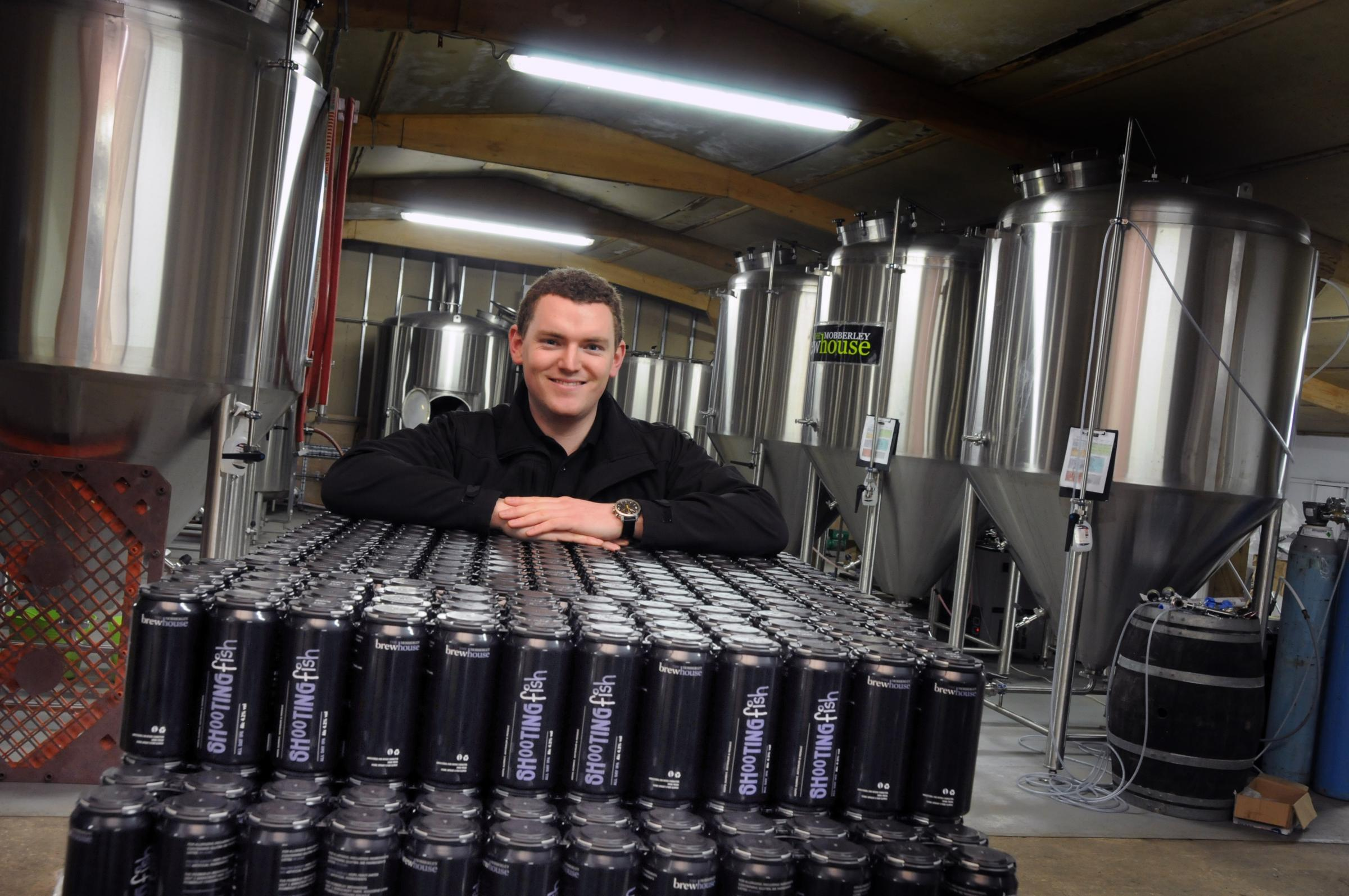 Mobberley Brewhouse owner James Roberts