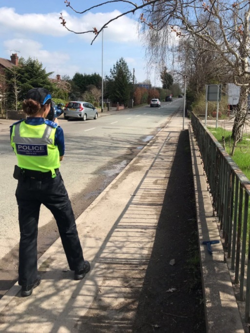 PCSO Chesters records vehicle speeds