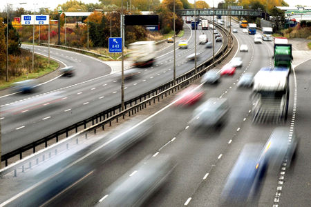 Broken down vehicle causes traffic delays at M6 J18