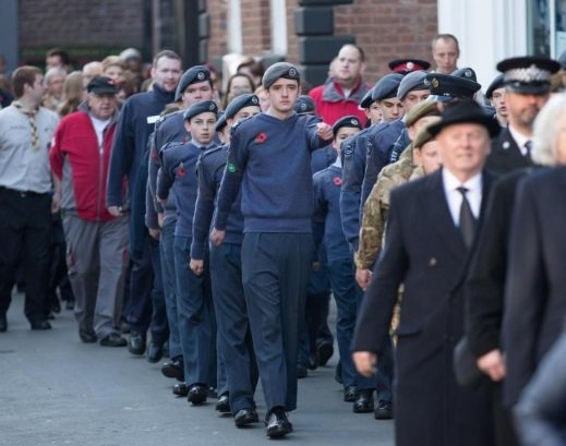 Knutsford Remembrance parade. Picture by WA16PR