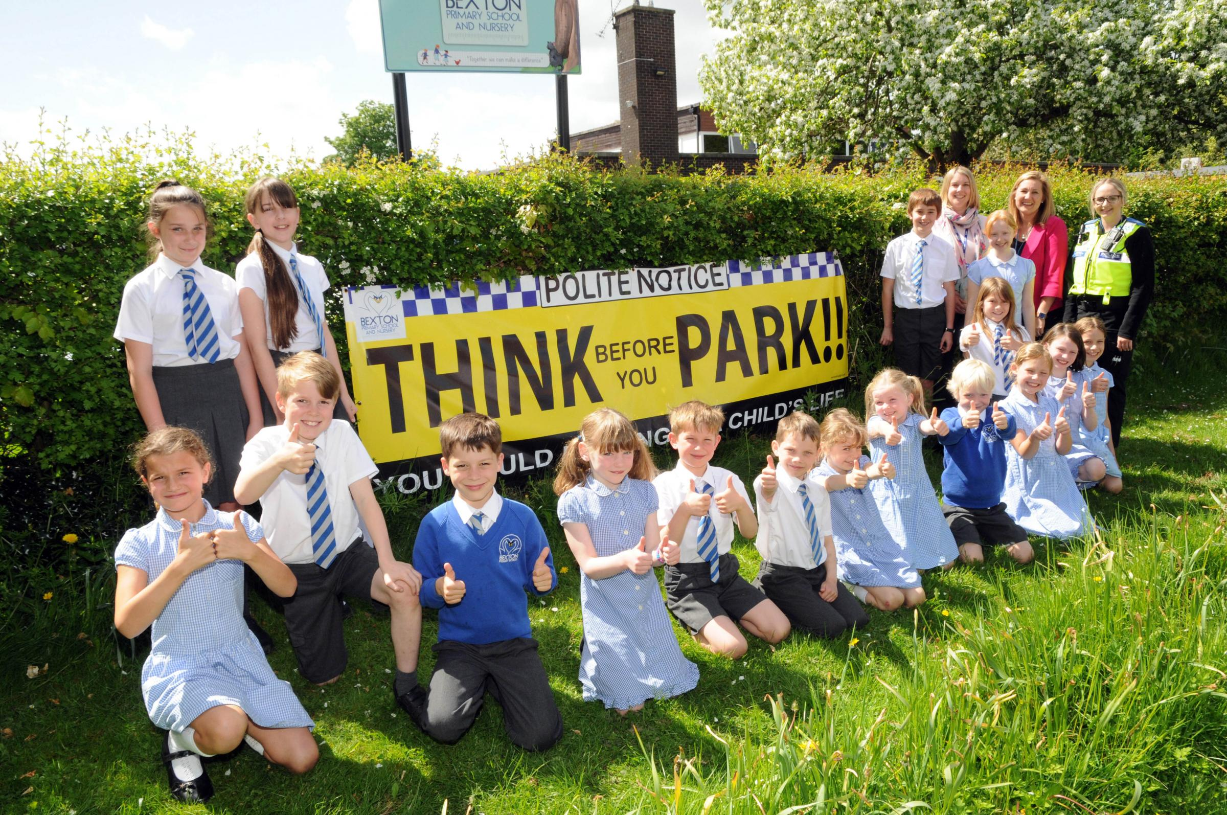 Thumbs-up from pupils for their safety campaign