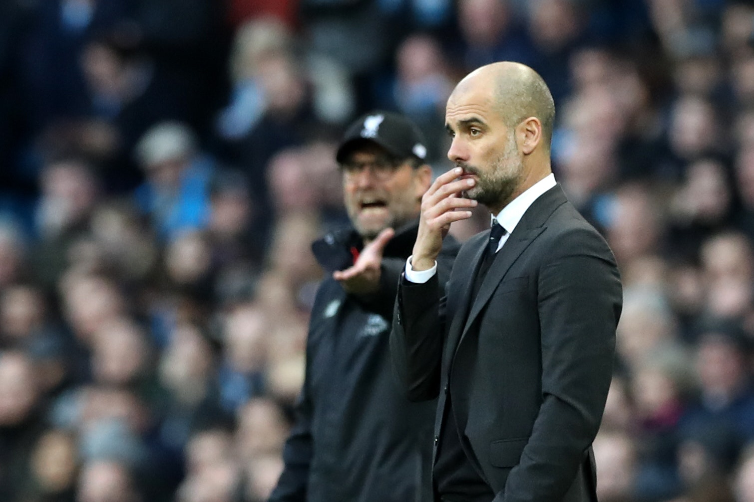 Jurgen Klopp's Liverpool are mounting a sustained challenge to Pep Guardiola's Manchester City this season