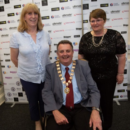 Knutsford Friendship Café - from left, Paula Lambe, Cllr Forbes, Eve James
