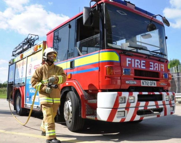 Fire had spread to wooden outbuilding