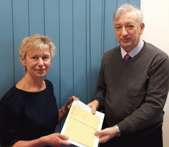 Stuart Gammon presented a petition to Cllr Rachel Bailey calling for safe crossings to be provided at the junction