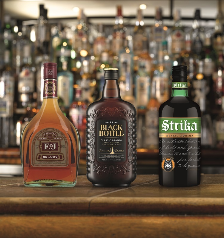 European drinks will be replaced with E&J Brandy (the number two selling brandy in the USA), Black Bottle (the number one selling brandy in Australia) and Strika, a herbal liqueur produced in England.