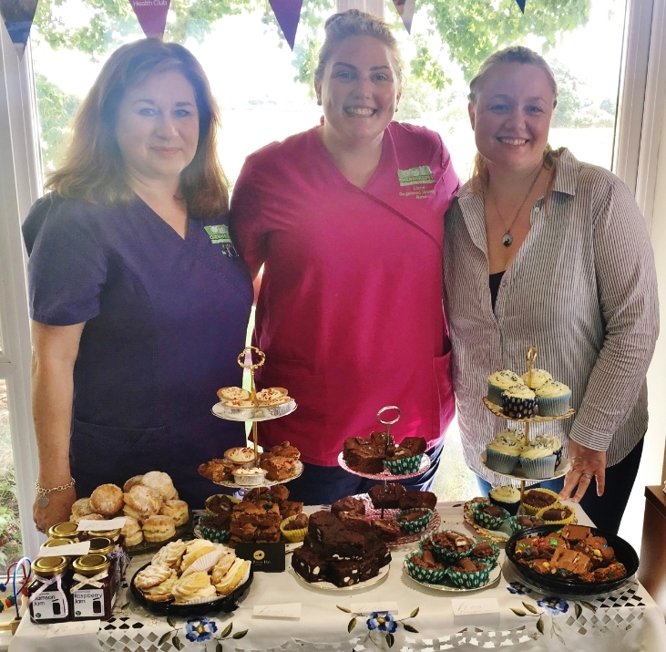From left, Rosena Pochin, receptionist; Lizzie Gorman, RVN veterinary nurse and cat advocate; Helen Mayer-Rees, owner of Tea Party Hire Cheshire