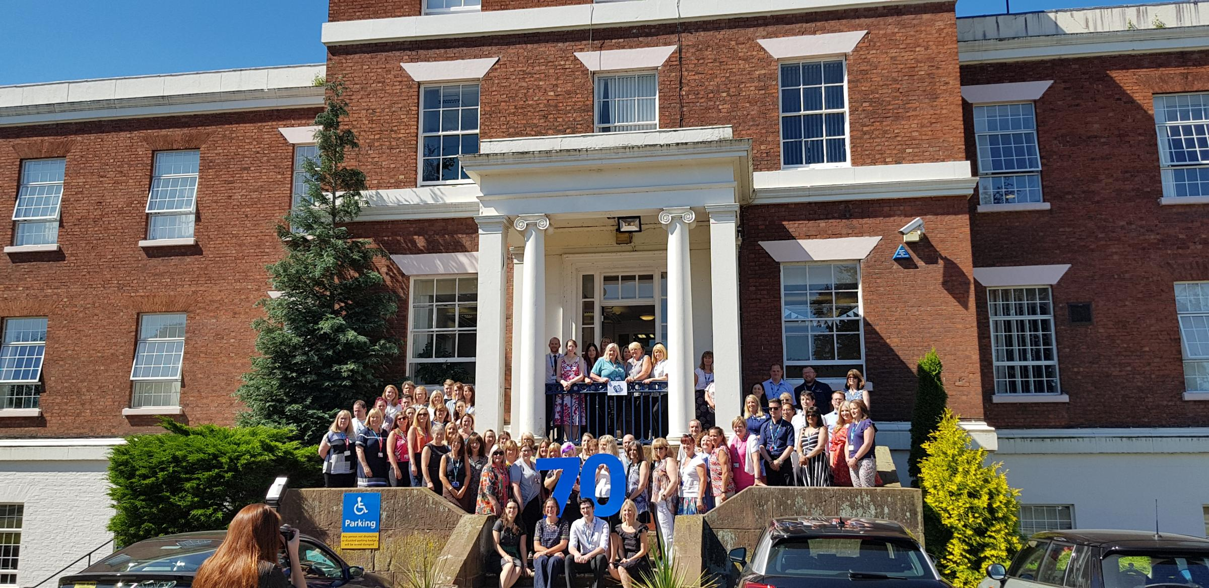CWP staff, pictured celebrating the NHS' 70th birthday earlier this year
