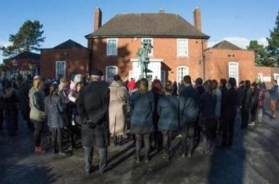 Residents at a Remembrance Service at Memorial House