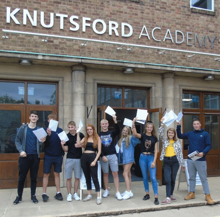 Knutsford Academy's class of 2018 celebrates its GCSE success