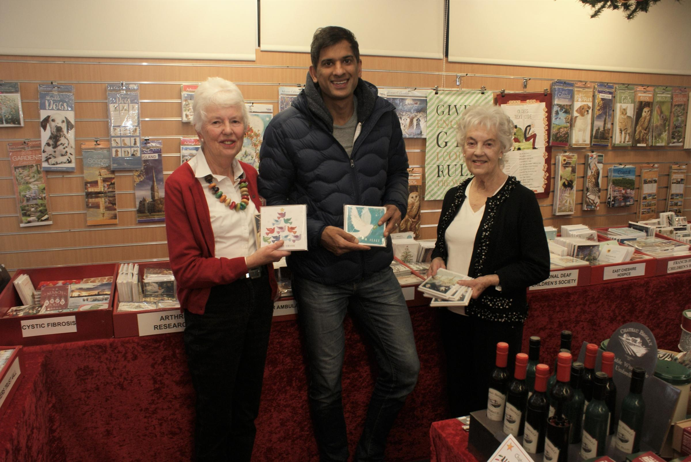 Celebrity GP Dr Rangan Chatterjee opens the Combined Charities Christmas Card